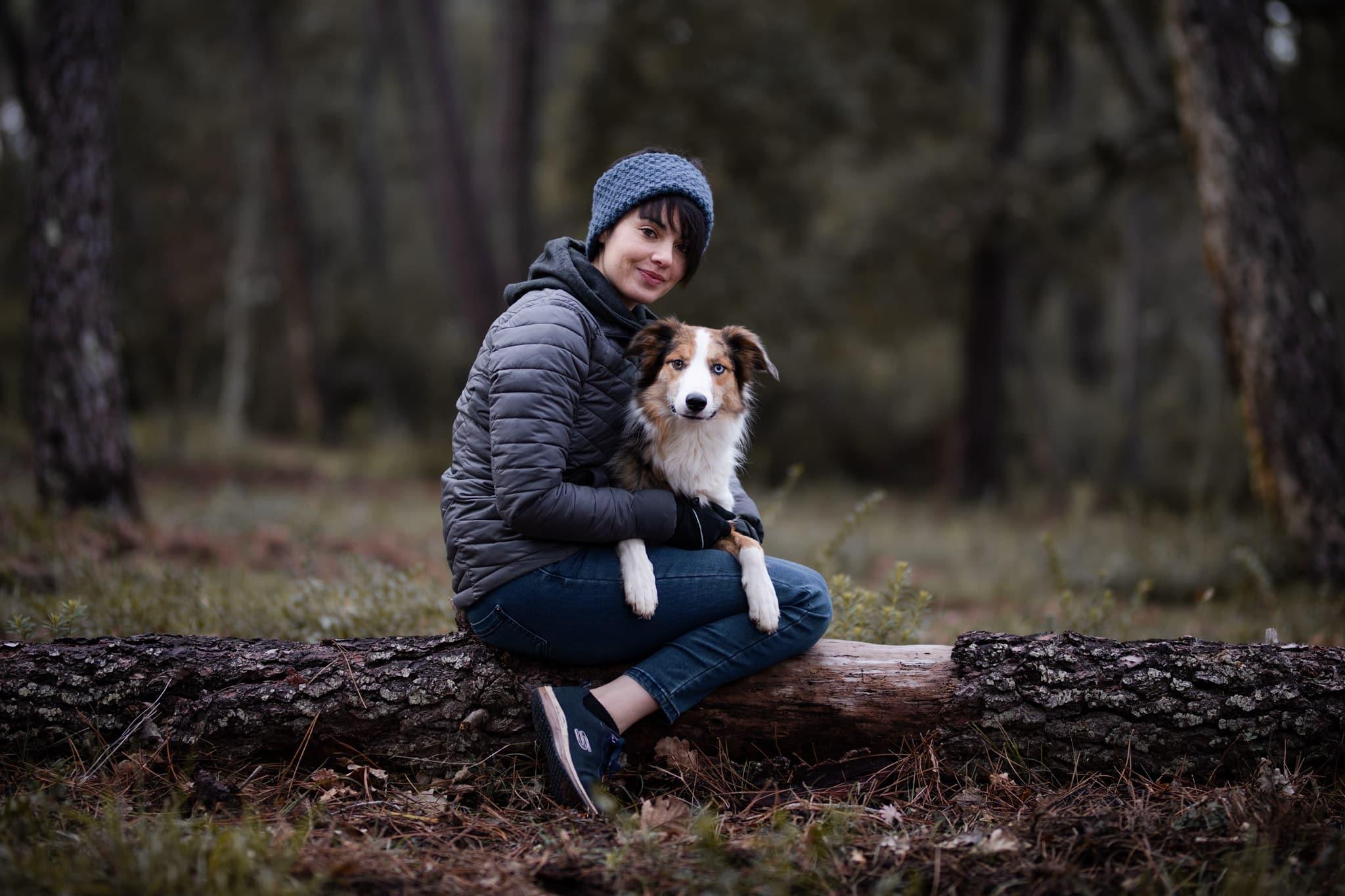 séances photos pour chien avec son propriétaire dans les Alpes Maritimes