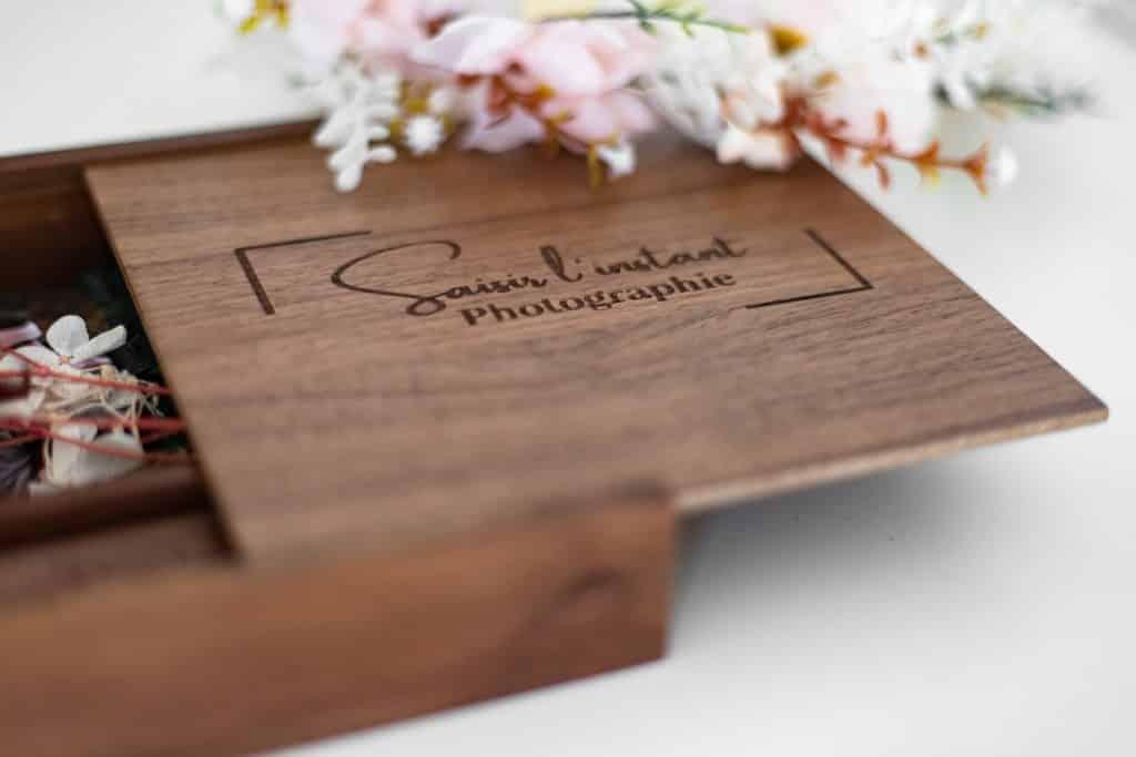 coffret en bois personnalisable pour tirage photo
