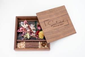 boite en bois personnalisée pour séance photo