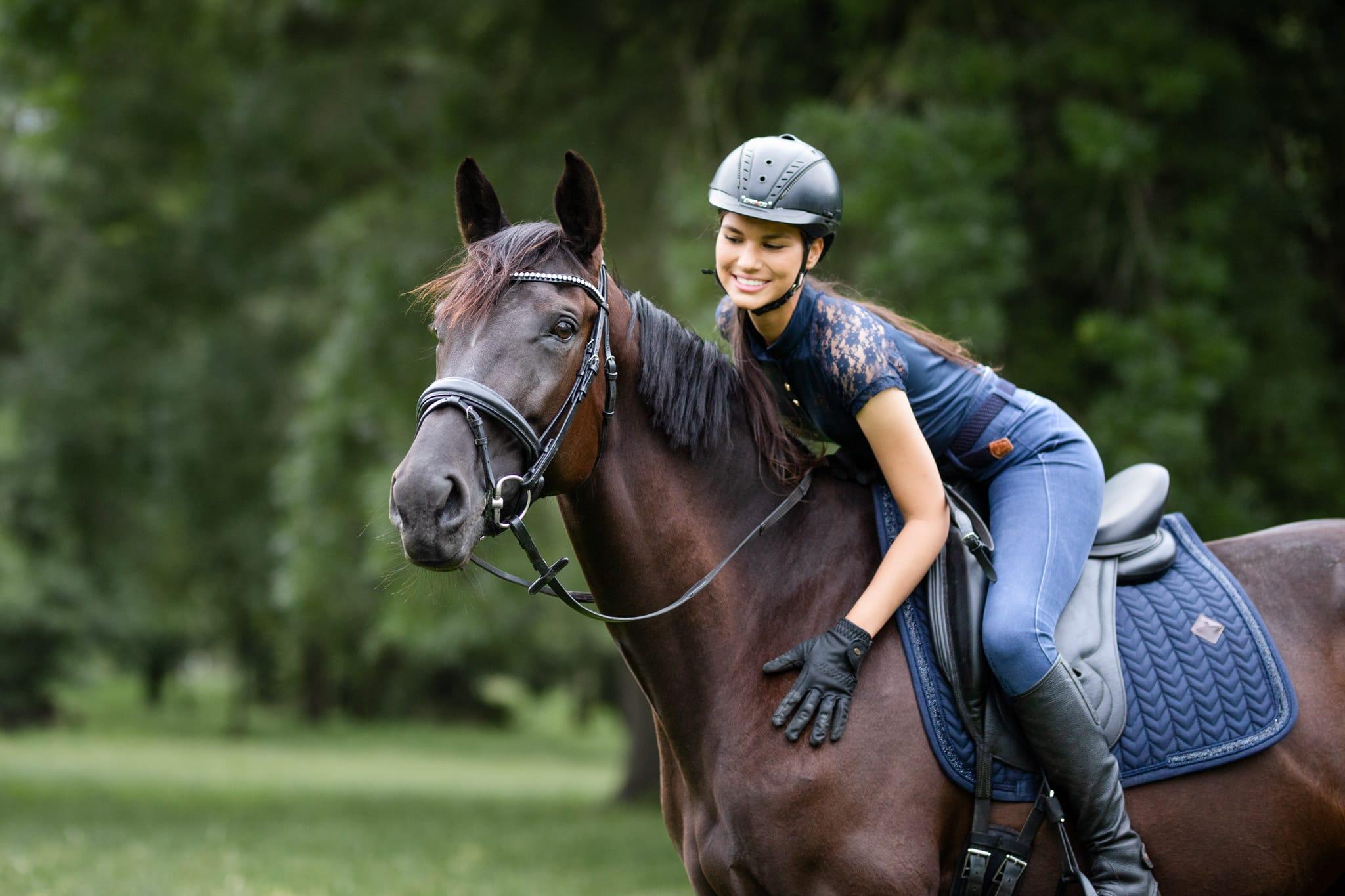 photographe de chevaux à Nice dans un parc des alpes maritimes